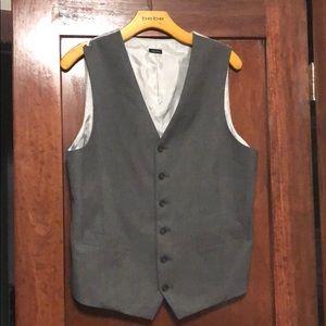 Men's gray formal vest size medium